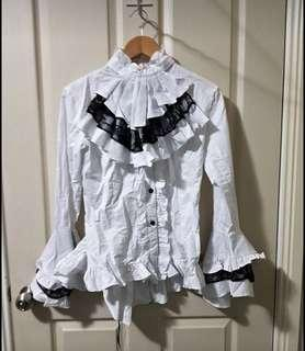 AS NEW - VICTORIAN DRESS TOP / PIRATE SHIRT FOR COSTUME