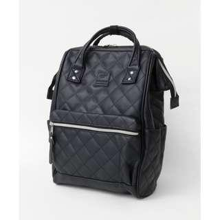 【New Arrival】 Anello Synthetic Leather Quilting Mouthpiece Backpack (Black) - AH-B3001 | 100% Authentic #anello #leather #backpack #authentic