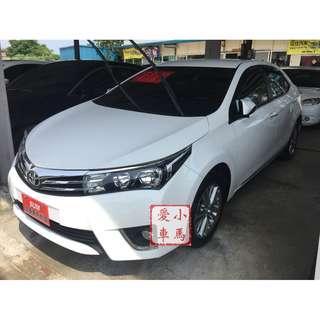 <可私分 超額貸 全額貸 零利率 5000即可牽車> 2014 Toyota Altis 1.8 白
