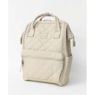 【New Arrival】 Anello Synthetic Leather Quilting Mouthpiece Backpack (Ivory) - AH-B3001 | 100% Authentic #anello #leather #backpack #authentic