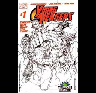 YOUNG AVENGERS #1 (2005) Wizard World Los Angeles Exclusive 1st Appearance of Kate Bishop!