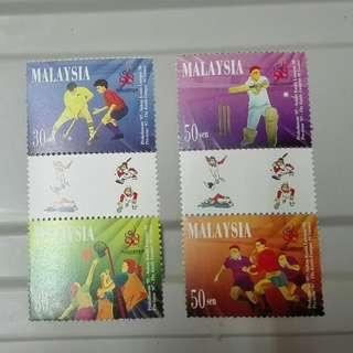 MALAYSIA 1997 PRE-ISSUE COMMENWEALTH GAMES XVI, GUTTER PAIR SET 4V