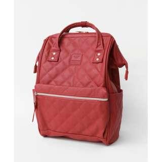 【New Arrival】 Anello Synthetic Leather Quilting Mouthpiece Backpack (Red) - AH-B3001 | 100% Authentic #anello #leather #backpack #authentic