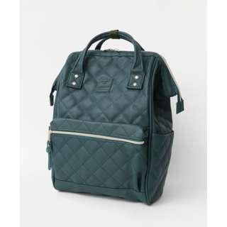 【New Arrival】 Anello Synthetic Leather Quilting Mouthpiece Backpack (Dark Green) - AH-B3001 | 100% Authentic #anello #leather #backpack #authentic