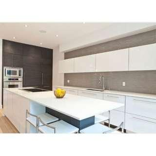 Kitchen Wallpaper Roll Cabinet Decor SOLID GLOSSY WHITE