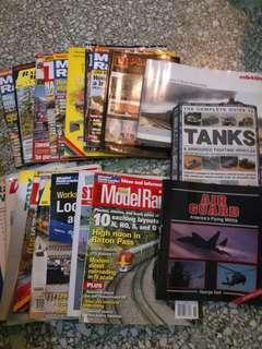 Model Train and Railroad Books or Magazines plus others