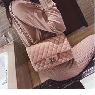 [pending]Pink Quilted Handbag (large)