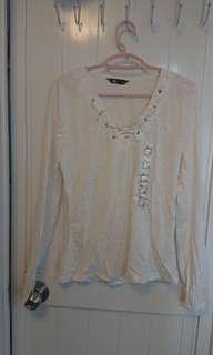 ▲搬屋清新衫行動▲ 購自澳洲 貼身白色條紋上衣