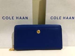 AUTHENTIC COLE HAAN Limoge Blue Benson2 Continental Wallet