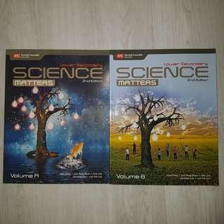 marshall cavendish science matters lower secondary 2nd edition textbook volume a & b