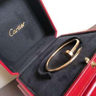 { sold} Cartier Juste un Clou Bracelet in Size 15 Rose Gold