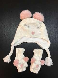 Baby Girl Beanie & Glove 🧤/ Winter Hat & Winter glove