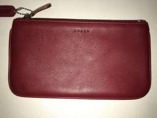 AUTHENTIC COACH Red/Maroon/Burgundy Pouch