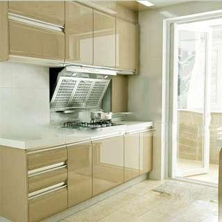 Kitchen Wallpaper Roll Cabinet Decor SOLID GLOSSY CHAMPAGNE