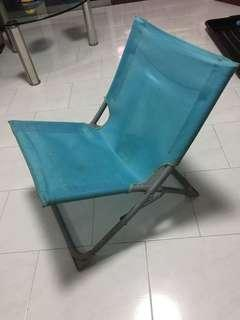 Free Foldable Blue Canvas Chair