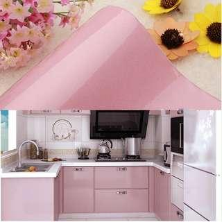 Kitchen Wallpaper Roll Cabinet Decor SOLID GLOSSY PINK