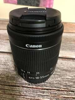 Canon EFS 18-55mm (wif UV filter)