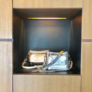 Silver & Cream/Black Crossbody bag
