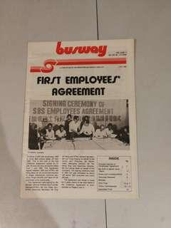 1982 SBS Singapore Bus Co busway newsletter 巴士道