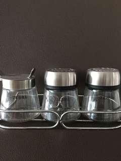 Zebra Kitchen Condiments Set