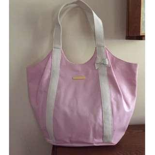 Juicy Couture Pink Sparkly Canvas tote, shoulder bag