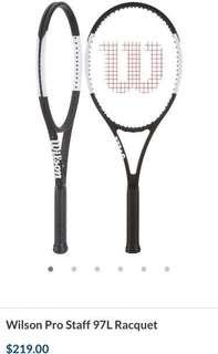 Wilson Prostaff 97L tennis racket with strings