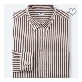 Uniqlo striped shirt -Red