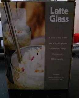 1 Pair Latte Glass Set