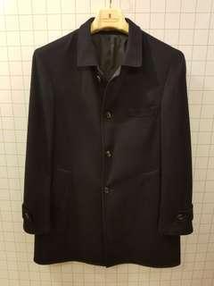 Brunello cucinelli 50 black cashmere overcoat