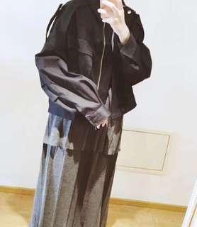 日本品牌 黑色 軍裝外套