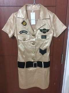 Halloween sexy army force dress mini