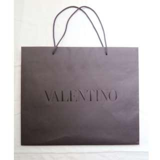 Valentino large size shopping bag 大尺碼購物紙袋( 可放手袋)