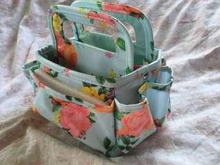 paper studio floral caddy organizer