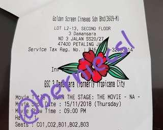 BTS Burn The Stage Tickets ×5