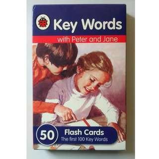 包順豐 全新 英文生字卡 Flash Card (一盒50張,100個字)