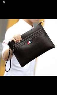 🚚 ✔️INSTOCK! Minimalist Mens Black iPad Clutch - iPad Messenger Sling Bag - bikers bag - cyclists bag - Mens clutch - travel portable bag
