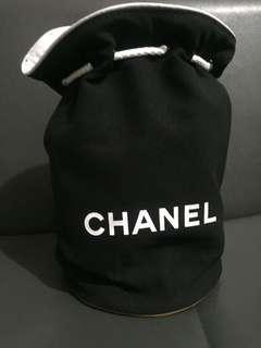 Chanel 化妝袋筒型索繩袋
