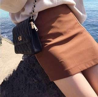 [HAVE TO GO!!] COFFEE-COLOURED SKIRT