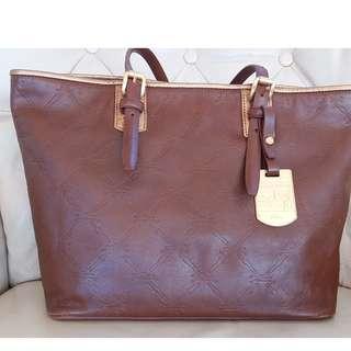 Longchamp Cognac Brown Leather Lm Cuir Tote Bag Handbag