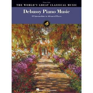 DEBUSSY PIANO MUSIC - 39 INTERMEDIATE TO ADVANCED PIECES