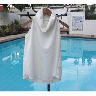 Sleeveless Cowl Neck Top (Harlan Holden-inspired - white)