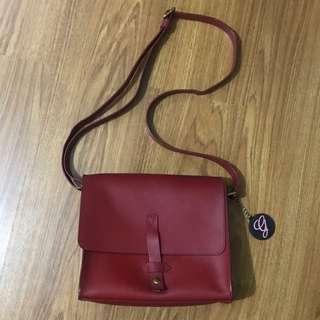 Joy Gryson IIIbeca NY Genuine Leather Messenger Bag