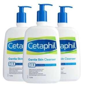 BN Cetaphil Cleanser 1l bundle of 3