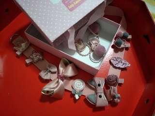 🚚 Box of cute Clip in a drawer bag- Dusty pink