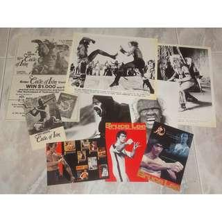 Bruce Lee Circle Of iron Photos Flyer Postcard Lot 李小龍 The Silent Flute David Carradine Stirling Silliphant Tuttle Books