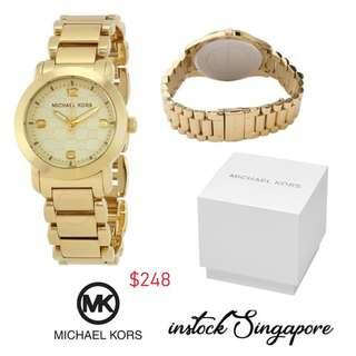 13c0914bb9b6 READY STOCK authentic new Michael Kors MK3158 Stainless Steel Gold Plated  Women s Watch