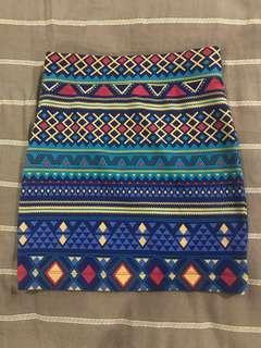 Forever 21 tribal bandage skirt