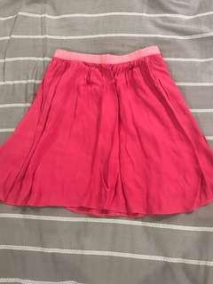 Topshop pink skirt small