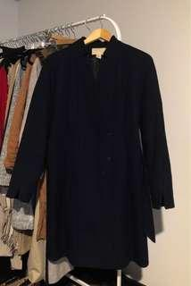 H&M wool coat navy blue size 4
