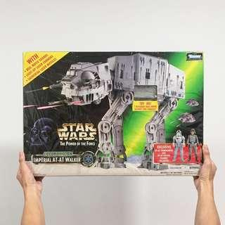 Mint complete Star Wars imperial at-at walker potf with box by Kenner collection the power of the force vintage at at galactic empire electronic jumbo toy